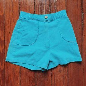 Vintage Handmade High-Waisted Shorts